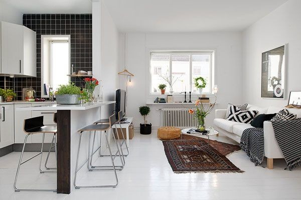 scandinavian living room design brown leather couch ideas my daily magazine art stylish small