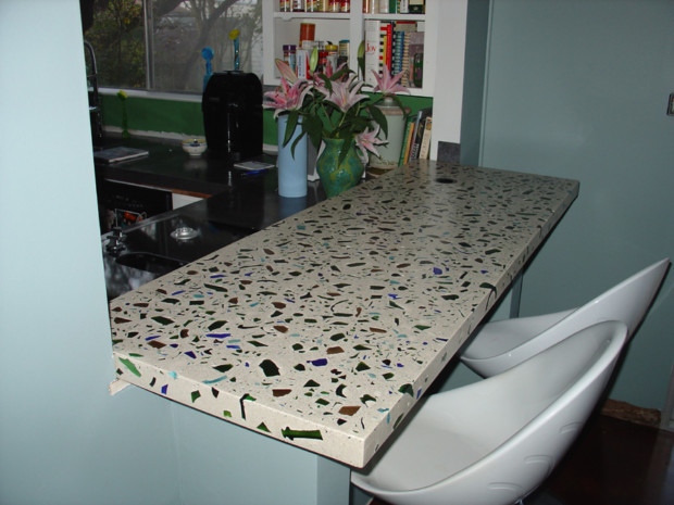 recycled glass kitchen countertops corner bench seating with storage diy - my daily magazine art ...