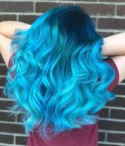 ocean blue hair cool