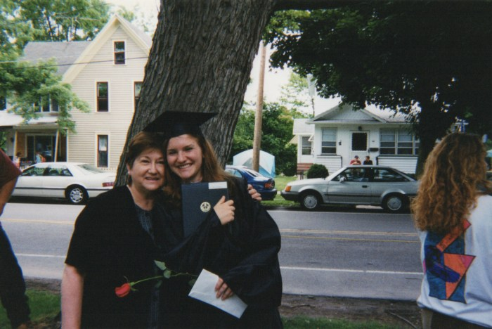 Me and Mom at my high school graduation.