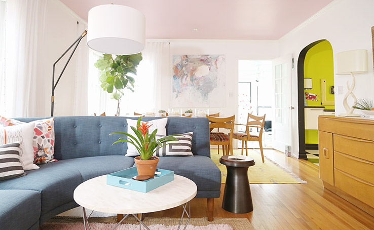 West Elm Okc Mid Century Living Room Makeover Main My Daily She