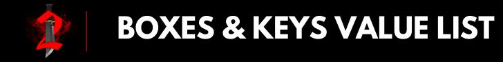 Boxes & Keys value list