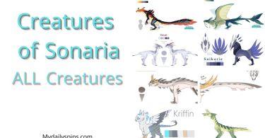 Creatures of Sonaria all creatures