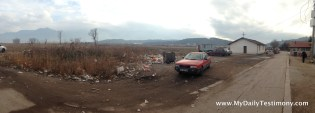 Panorama view from the Gypsy village in Dupnitsa, Bulgaria