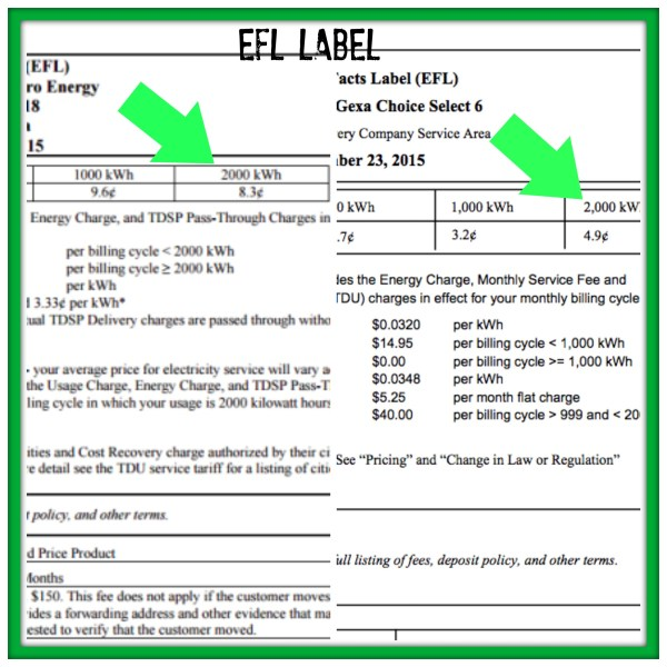 EFL label