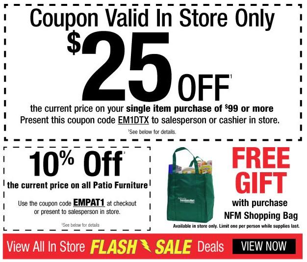 Nebraska Furniture Mart~ One Day Only In Store Flash Deals