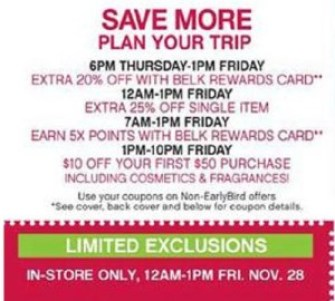 Belk black friday coupons