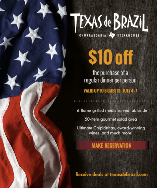 picture relating to Texas De Brazil Printable Coupon named Texas de Brazil ~ $10 Off Meal Coupon - My DFW Mommy