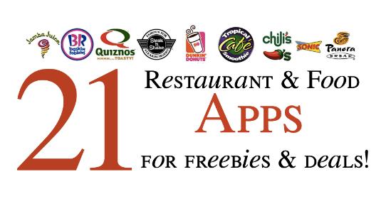 21 Restaurant Food Apps Freebies Deals Discounts My