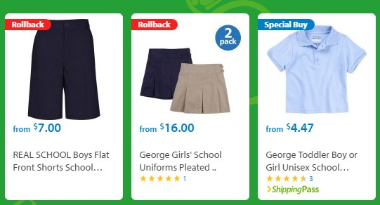 Walmart School Uniform Clearance Polos For Just 350 More My