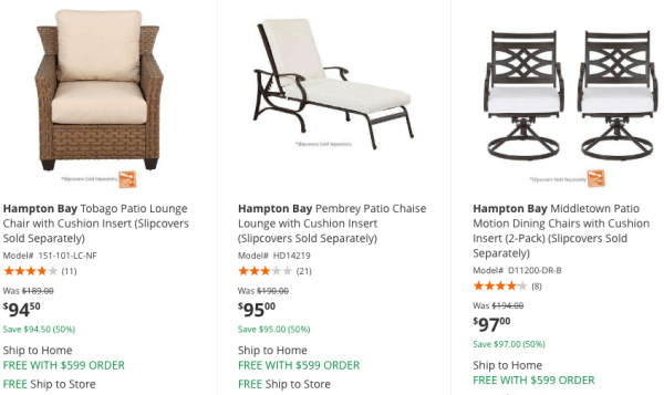 Home Depot Great Deals On Hampton Bay Patio Furniture My Dfw Mommy