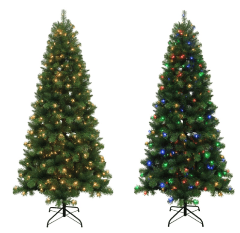 Lowe S 7 5 Ft Alpine Artificial Christmas Tree With Color Changing