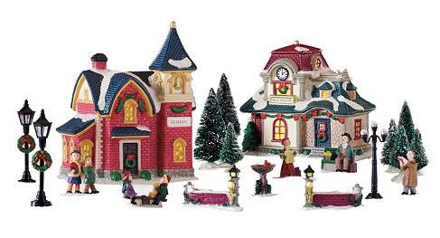 St Nicholas Christmas Village.Kohl S Com St Nicholas Square 20 Piece Christmas Village Decor