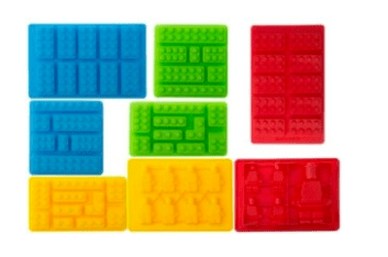 Lego silicone molds building blocks and robots set of 8 for Cost of building blocks in jamaica 2017