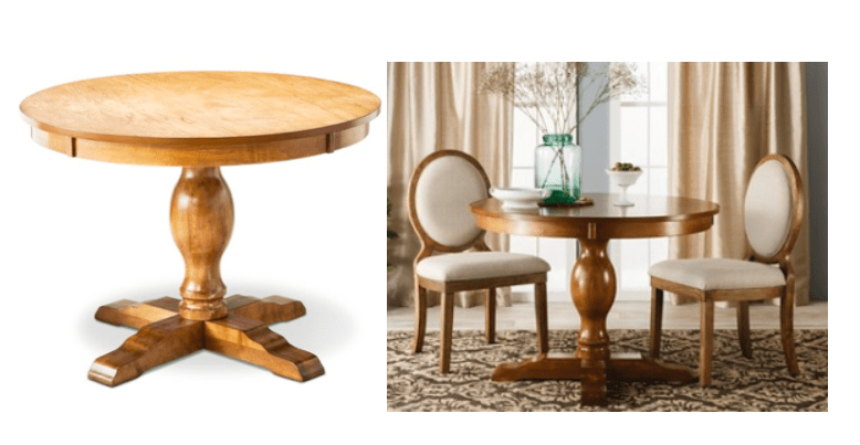 Inspirational Hurry over to Target to score this Threshold Round Pedestal Dining Table for only Shipped