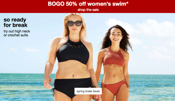 14168ac4ae3aa Target~ BOGO 50% Off Women's Swimwear - My DFW Mommy