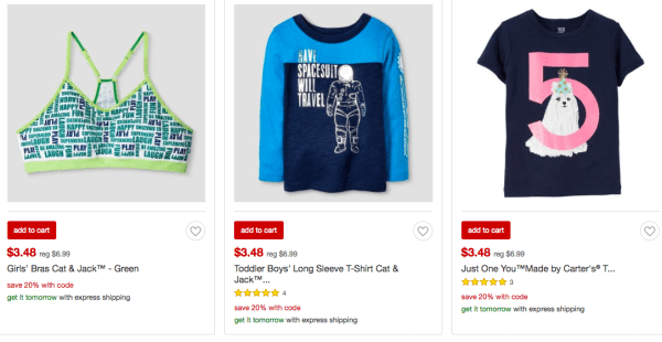 6373b6364cb Target~ Extra 20% Off Clearance Kids