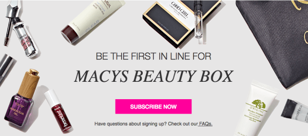 Macy's~ 7 Piece Beauty Box With $10 Beauty Credit For Only