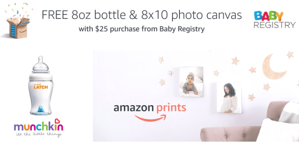 Amazon Prime~ FREE Munchkin Bottle + FREE 8×10 Photo Canvas When You ...