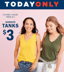 Old Navy 3 Tanks For Women Today Only My Dallas Mommy