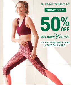 1d11b1f157 Old Navy~ 50% Off All Performance Activewear Today Only - My DFW Mommy