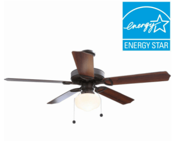 Home Depot Hampton Bay Ceiling Fan With Light Only 38 82 Shipped My Dfw Mommy