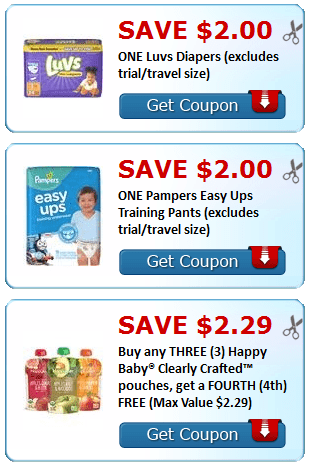 photo relating to Printable Pampers Coupons called Clean Printable Discount coupons~ Luvs, Pampers, Content Little one + Extra - My