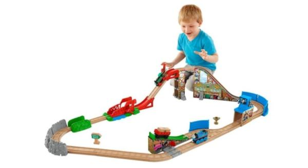 Fisher Price Thomas The Train Wooden Railway Race Day Relay Set