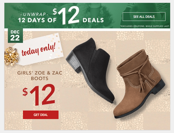 Girls Boots As Low As $7 Per Pair at