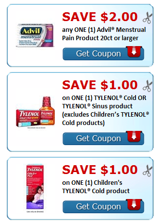 New Printable Coupons Advil Tylenol Cold Sudafed More