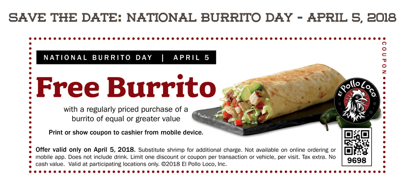 Bogo Free Burritos More On National Burrito Day Today My Dfw Mommy