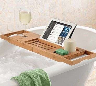 Bamboo Bathtub Caddy Tray w/ Extending Sides Just $28.99 Shipped ...