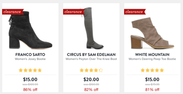 7fe20a3e7 Famous Footwear~ 80% Off Women s Boots + FREE Shipping on All Orders ...