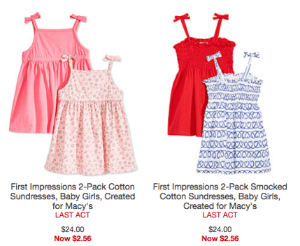 f6036d8dffc61 Shop Macy's where you can get up to 85% off toddler apparel – including  cute sundresses and Carter's pajama sets! Sizes and styles are selling out  fast, ...
