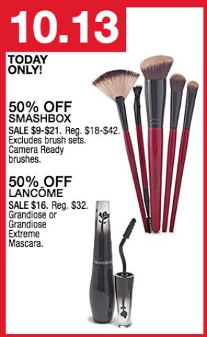50% Off Lancome Mascara & Smashbox Brushes - My DFW Mommy