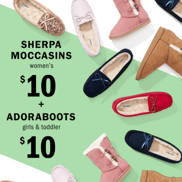 huge selection of 30bc5 23502 Old Navy Kids Boots   Women s Sherpa Moccasins  10 (Reg  30)