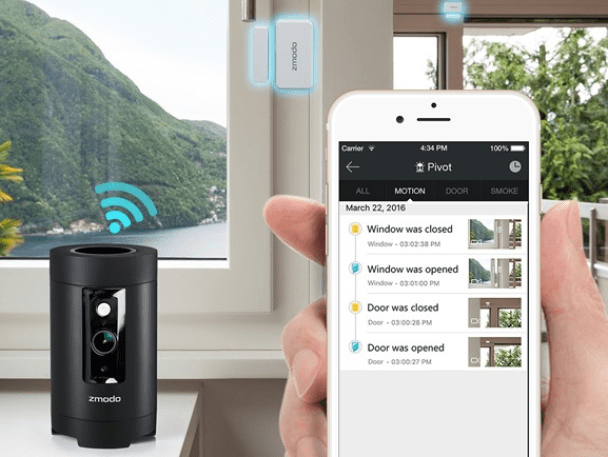 Zmodo Pivot 360 176 Rotating Wireless All In One Security