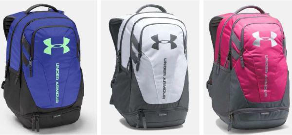 6a4a8cb6d6 Check out these UA Hustle 3.0 Backpacks on sale for $32.99 (Retail $54.99).  There are several colors available at this price, however pricing does  change ...