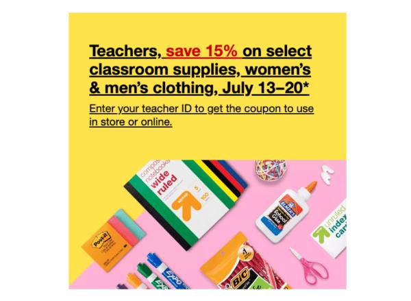 target teacher discount