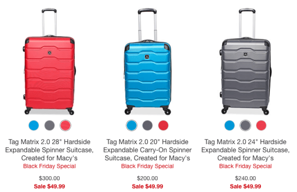 Tag Matrix Hardside Expandable Spinner Suitcase