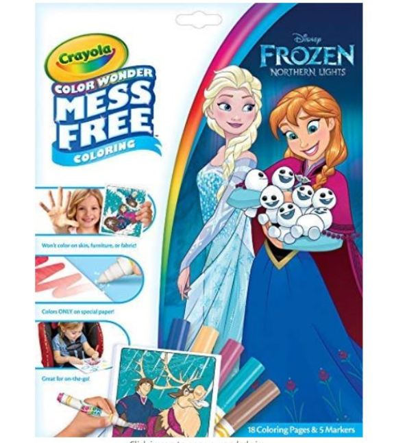 Crayola Color Wonder Frozen Coloring Book and Markers $4 ...