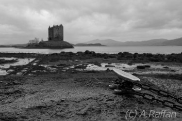 Castle Stalker from the jetty