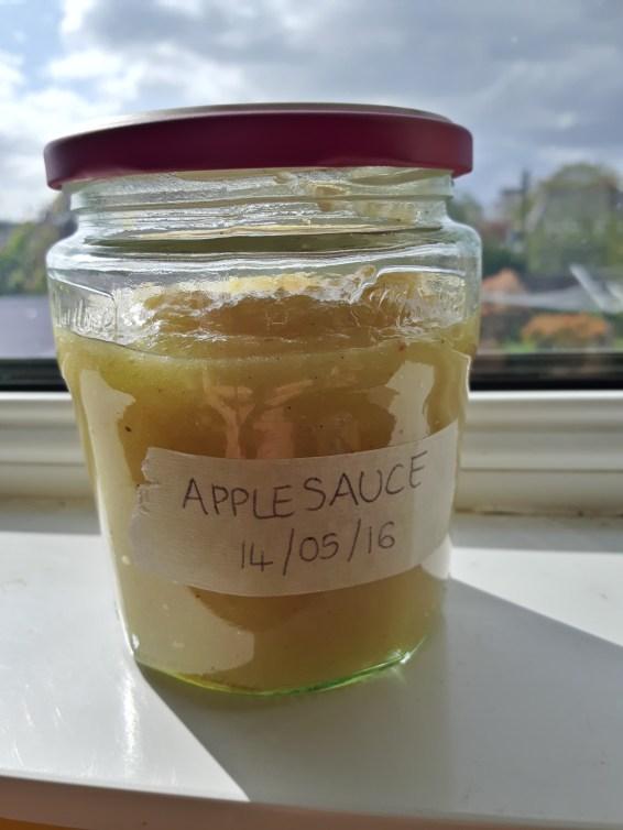 One jar of yummy applesauce for the fridge