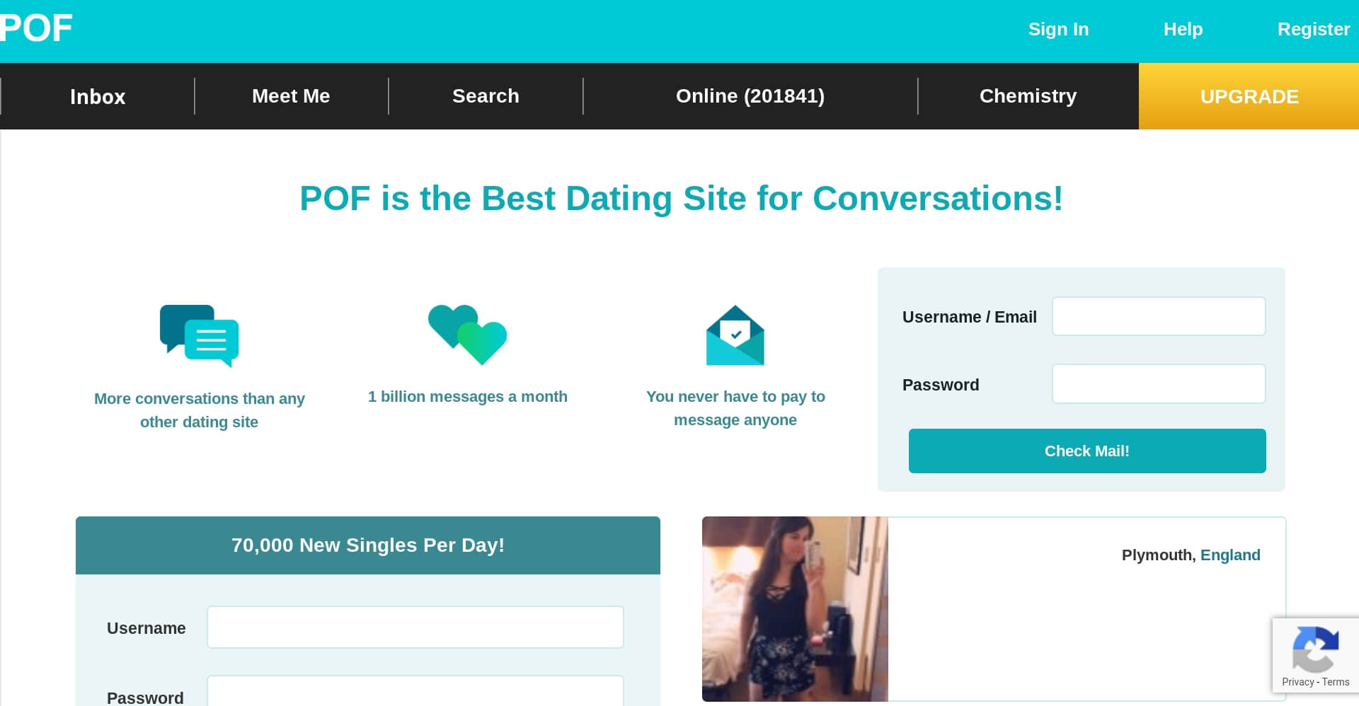 pof uk dating site review