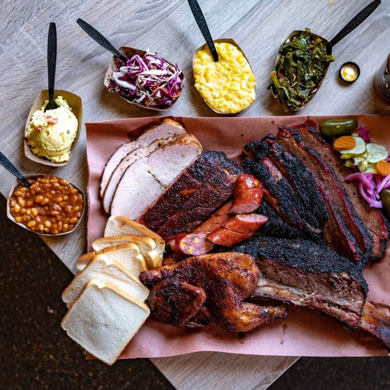 Killens BBQ, Meat Platter, Houston, Texas