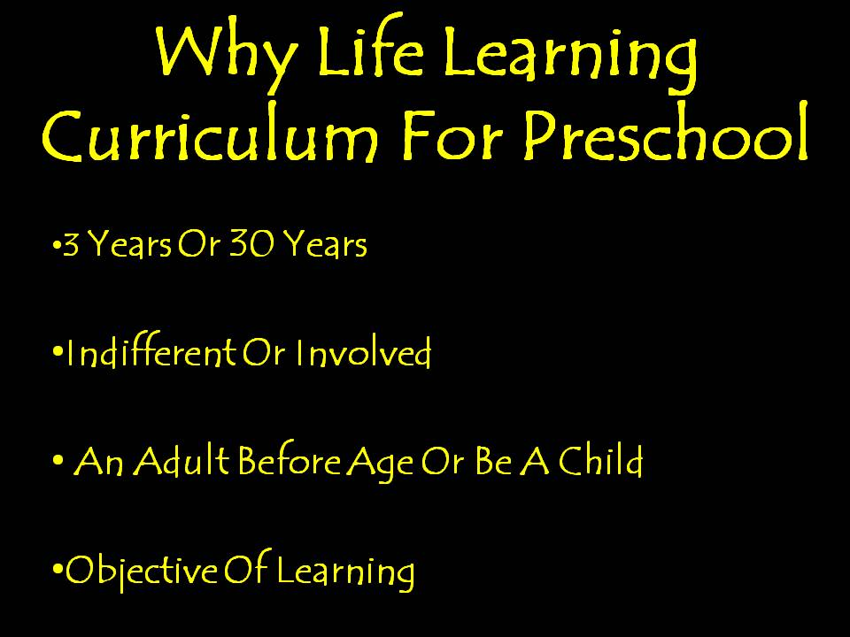 Life Learning Curriculum For Preschool