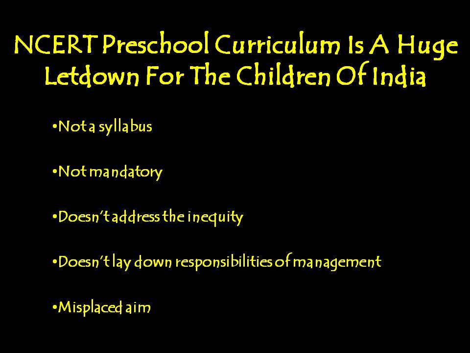 NCERT Preschool Curriculum