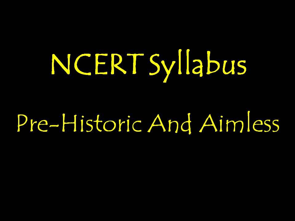 NCERT Syllabus