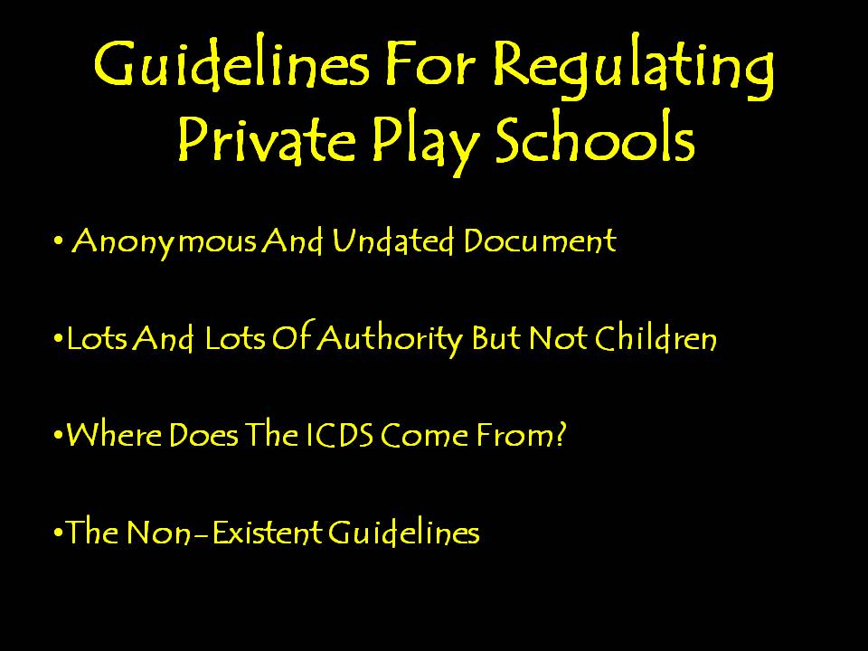 Guidelines For Private Play Schools In India Are A Dud