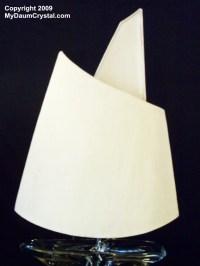 My Daum Crystal Tall 2 Sail Sailboat Lamp